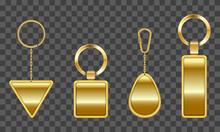 Vector Golden Keychain, Holder...
