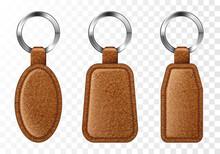 Leather Keychains, Brown Keyri...