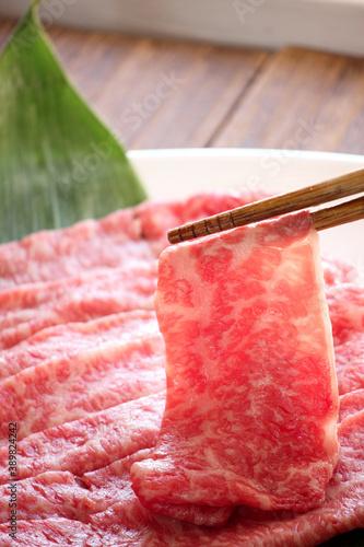 Valokuvatapetti すきやき用牛肉