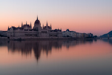 Budapest Parliament On The Dan...
