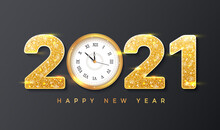 2021 Happy New Year. Golden Nu...