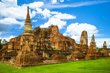 The Ruins Of Wat Mahathat In A...