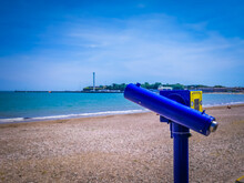The Summer Holidays Town Of Weymouth, Located In Dorset, England