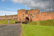 Carlisle , Cumbria / England - 11 03 2020: Carlisle Castle History Building