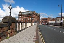 Carlisle , Cumbria / England - 11 03 2020: Victoria Viaduct Bridge In Carlisle UK
