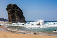 Felsformation Roque Del Moro An Der Westküste Auf Fuerteventura