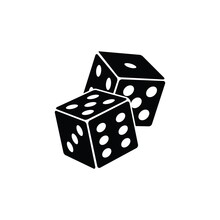 Pair Of Dice To Gamble  Icon, Gambling Icon For Casino Apps And Websites, Vector Illustration