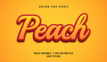 3D Peach Text Effect, Editable Text Style