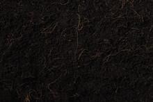 Black Land For Plant Backgroun...