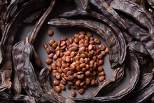 Carob Seeds And Pods