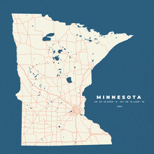 Minnesota Map Poster And Flyer