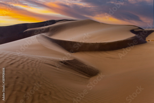 landcape with awesome sunset sky over Namib Desert in Namibia, southern Africa Wallpaper Mural