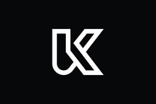 UK Logo Letter Design On Luxur...
