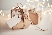 Christmas Sustainable Gift Boxes With Blank Gift Card. Christmas Zero Waste