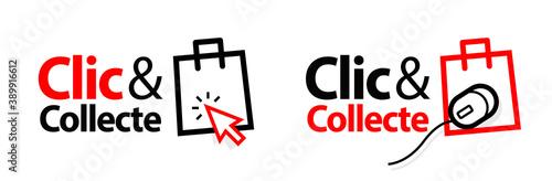 Clic et collecte / version française de Click and collect Fotobehang