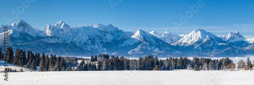 Fotografering Panorama Landschaft im Winter im Allgäu