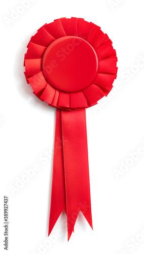 Fotografie, Obraz red ribbon award isolated on white background
