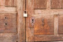 Closeup Of An Old Wooden Door ...