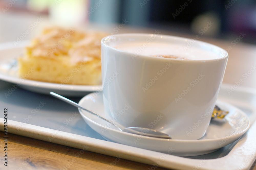 Fototapeta Kaffee und Kuchen, Close-Up