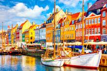 Copenhagen Iconic View. Famous...