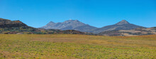 Panoramic View Of High Lands In San Juan Mountains Of Colorado, Along Last Dollar Road.