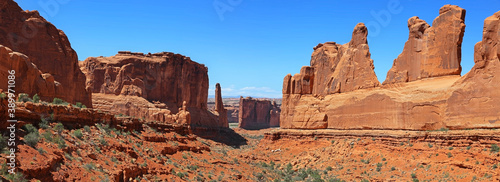 Valokuva Panoramic view of Arches national park