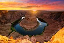 Grand Canyon Sunset Horseshoe Bend Arizona. Travel Arizona Horseshoebend Near Page Arizona.
