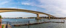 A Panorama View Of The Itchen Bridge In Southampton, UK In Autumn
