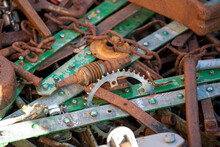 Environmental Protection, Old Discarded And Trown Away Pieces Of Metal
