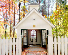Farm Chapel In Vermont