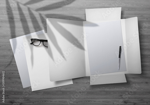 Flap Folder Mockup Fototapete