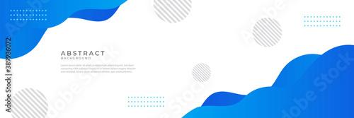 Fototapeta Liquid abstract wave background. Blue fluid vector banner template for social media, web sites. Wavy shapes vector illustration obraz