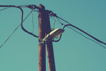 Street Lamp With Electric Pole...
