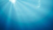 Deep Water With Light Rays Bac...