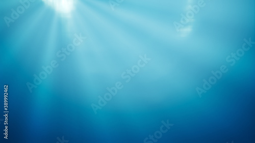 Fotografie, Obraz deep water with light rays background