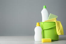Bucket With Cleaning Products ...