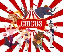 Circus Poster, Funfair Carniva...