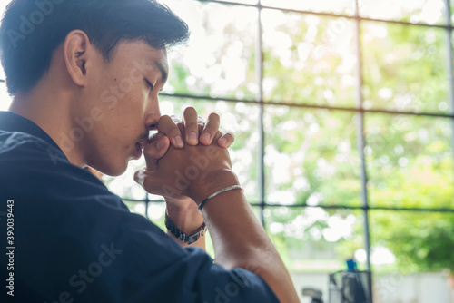 Prayer and bible concept Fototapet