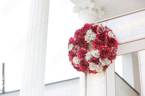 Fotografia 結婚式場に飾られたリース