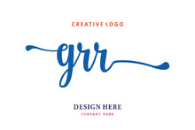 GRR Lettering Logo Is Simple, Easy To Understand And Authoritative