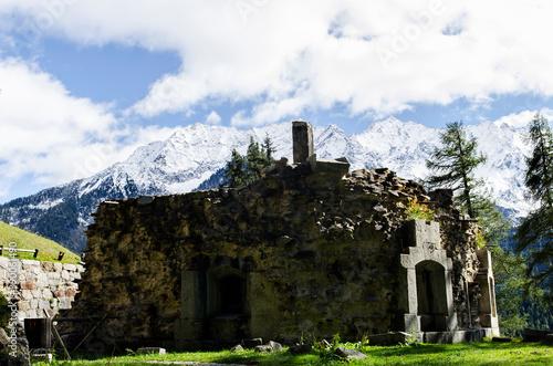 Cuadros en Lienzo Fort z pierwszej wojny św - Alpy