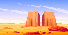 Ancient Egyptian Temple With S...