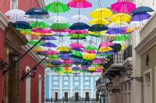 Umbrellas Above San Juan Stree...
