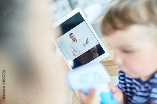 Fotografia online Beratung für krankes Kind im Videochat