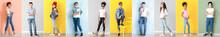 Stylish Children In Jeans Clot...