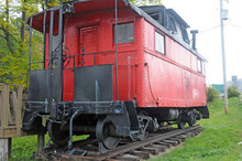 Red Caboose In Johnstown PA