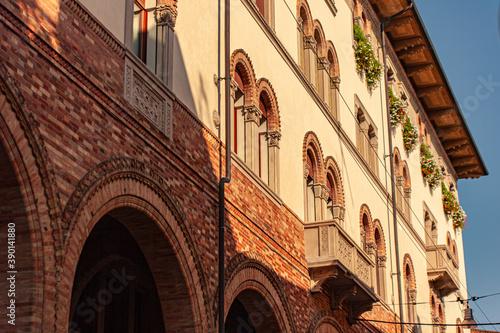 Fotografie, Tablou Detail of historical building in Treviso city Center