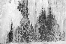 Frozen Waterfall Close Up. A F...