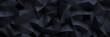 Leinwandbild Motiv Schwarzer Low Poly Background Header