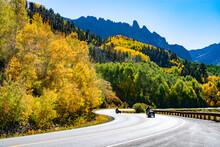 Touring Motorcycles Riding Thru Mountains